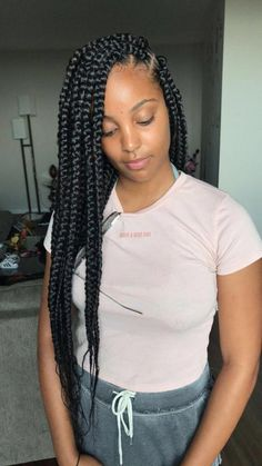 2019 Beautiful Braids Hairstyles: 25 Unique Black Braided Hairstyles For Women With . 2019 Beautiful Braids Hairstyles: 25 Unique Black Braided Hairstyles For Women To Try In 2019 Large Box Braids, Short Box Braids, Blonde Box Braids, Braids For Black Hair, Jumbo Box Braids, Medium Box Braids, Braids With Weave, Tree Braids Hairstyles, My Hairstyle