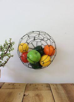 Wall Hanging Half Round Wire Basket van CharestStudios op Etsy