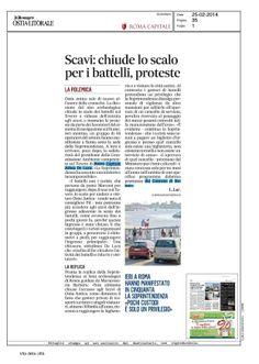 SCAVI, CHIUDE LO SCALO PER I BATTELLI