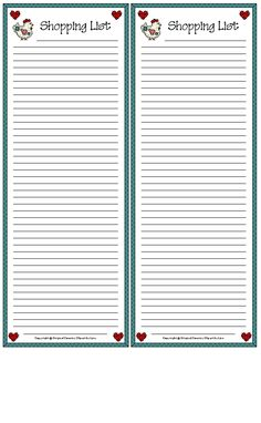 Free Printable Recipe Cards to Print for yourself or give as a nice gift! Stationary Printable, Meal Planner Printable, Printable Recipe Cards, Printable Shopping List, Shopping Lists, Envelopes, Notebook Paper, Writing Paper, Note Paper