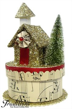 Vintage Christmas Decorations at Traditions Year-Round Holiday Store. Christmas Paper, Christmas Love, Christmas Projects, All Things Christmas, Holiday Crafts, Holiday Fun, Holiday Decor, Christmas Glitter, Victorian Christmas
