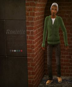 "31 Days of UYS | Day Nine: Roulette, hoodie and jeans with work boots outerwear for teens to elders. "" Temporary dl link: dropbox Comes as everyday only (for those without Seasons), and both everyday..."