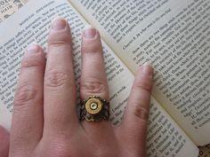 The Pauline Ring - Bullet Filigree Ring. $12.00, via Etsy.