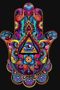 New hamsa iphone wallpaper. Mandala Art, Hamsa Art, Psychadelic Art, Hamsa Tattoo, Psy Art, Eye Painting, Hamsa Painting, Hand Of Fatima, Hippie Art