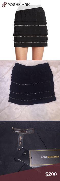 [BGBGMaxAzria] •Tiered Skirt• Beautiful skirt, never worn - still has tags! Sold out online! BCBGMaxAzria Skirts Mini