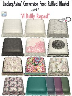Sims 4 CC's - The Best: Ruffled Blanket Recolors by LoveratSims4