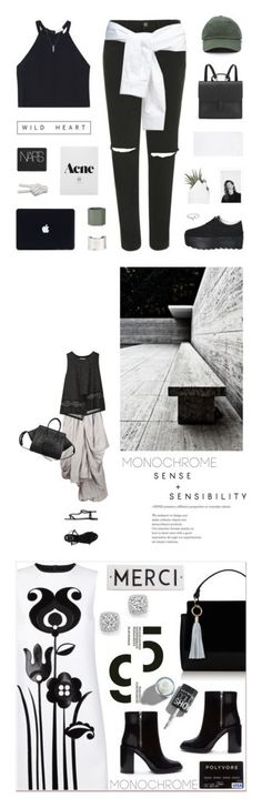 """""""Winners for Make It Monochrome"""" by polyvore ❤ liked on Polyvore featuring A.L.C., Topshop, Pixie Pair, T By Alexander Wang, Danielle Foster, NARS Cosmetics, ferm LIVING, Noir, Maison Margiela and Maria Francesca Pepe"""
