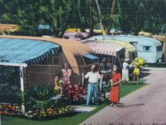 Vintage Travel Trailer Postcards and Vintage Photos - Travel Souvenirs