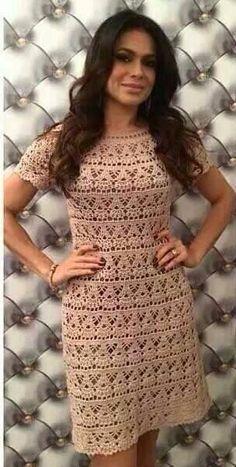 Patrón #1292: Vestido a Crochet   CTejidas [Crochet y Dos Agujas]