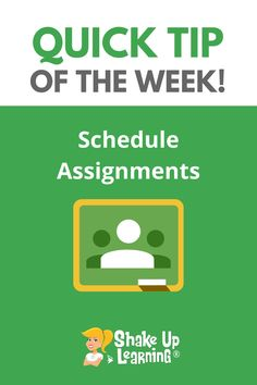 Did you know you can schedule assignments in Google Classroom? Learn How to Schedule Assignments in Google Classroom! Free Teaching Resources, Teaching Tools, Classroom Resources, Teaching Ideas, Formative Assessment Tools, Technology Integration, Mobile Learning, Google Classroom, Educational Technology