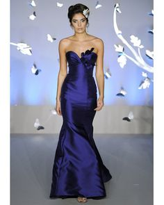 Love this dress, hate her makeup, lol! Lazaro, Spring 2012