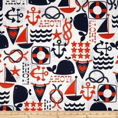 Michael Miller Ahoy Matey Ahoy NavyItem Number: 200482 Our Price: $8.98 per YD Compare At: $10.99 per YD