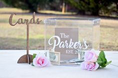 Wedding Card Box  Personalized Card Box  Wedding Keepsake
