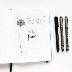 "33 Likes, 2 Comments - The Bullet Journal Life (@thebulletjournallife) on Instagram: ""Heel blij met m'n minimalistische beginpagina van juni """