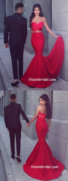 Simple Prom Dresses, sweetheart prom dress mermaid prom dress red prom dress fashion prom dress sexy party dress new style evening dress LBridal Prom Dresses For Teens, Prom Dresses 2018, Prom Dresses Online, Cheap Prom Dresses, Sexy Dresses, Sweetheart Prom Dress, Mermaid Sweetheart, Mermaid Evening Dresses, Evening Gowns