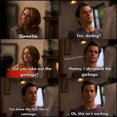 Neal and Sara. White collar quotes