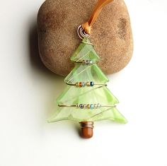 Fused Glass Christmas Tree Ornament - Suncatcher