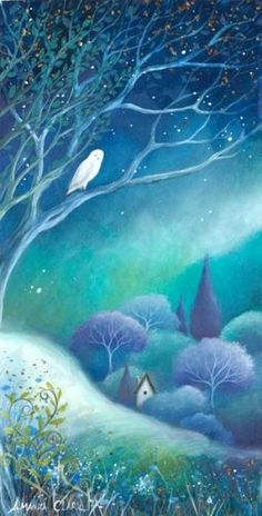 images of moonlight owls | moonlight ©Amanda Clark | owls