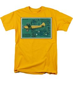 Polikarpov Po 2 Men's T-Shirt (Regular Fit) featuring the mixed media Ussr Airplane Polikarpov Po 2 by The Griffin Passant
