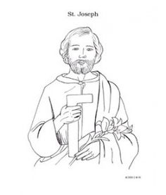 st joseph coloring page