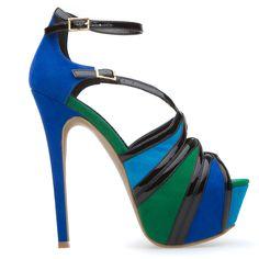 Blue, Green & Black Heels                                                                                                                                   ❦~HeadOverHeels~❦