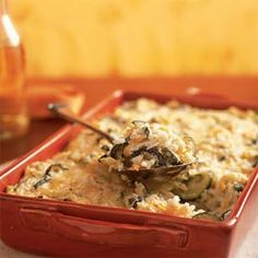 Squash-Rice Casserole | MyRecipes.com.    Great with brunch or dinner