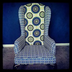 Charlotte  Newly Upholstered Chair by shopAUD on Etsy, $395.00