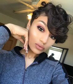 """29.7k Likes, 249 Comments - The Cut Life (@thecutlife) on Instagram: """"super bomb! @jadamalan styled by @zoey_mom ✂️ - #thecutlife #pixiecut #bangs #curls #shorthair…"""""""