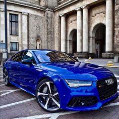 Awesome in blue. Audi 🔥🔥🔥 - New Sites Audi Rs5 Coupe, Audi Rs7, Fancy Cars, Cool Cars, Audi Autos, Carros Audi, Porsche 918 Spyder, Mercedes Benz G, Lux Cars