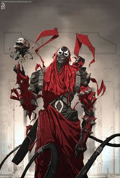 Bad ass adeptus mechanics tech priest with servo skull and mechadendrites. That's totally what I see.