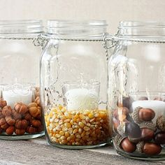 Pottery Barn Knock-Off using hanging mason jars and dried vase fillers!