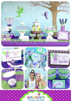 FAIRY Party Printable Set Birthday Fairy por AmandasPartiesToGo