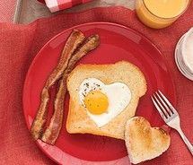 Indeed love is in the air...because it has bacon, egg and toast in it...