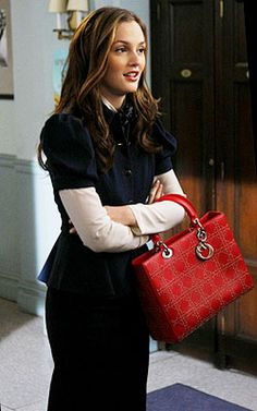 In a Diane von Furstenberg suit, Gardem Paris top and Dior bag, Blair tries to make a good impression to gain entrance into the exclusive Colony Club.