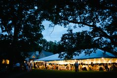 40x80 Frame Tent with Star Lighting at Horace Williams House