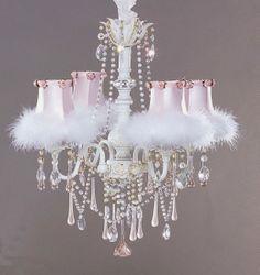 Creative Lighting Option: Shabby Chic <b>Chandelier</b> Lustre Shabby Chic, Shabby Chic Chandelier, Shabby Chic Vintage, Pink Chandelier, Shabby Chic Stil, Ceiling Fan Chandelier, Estilo Shabby Chic, Chandelier Bedroom, Shabby Chic Interiors