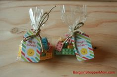 Create These Lego Candy Favors with Free Printable Tags - Bargain Shopper Mom
