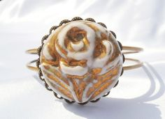 Rose Gold Bracelet by TheButtonBird on Etsy