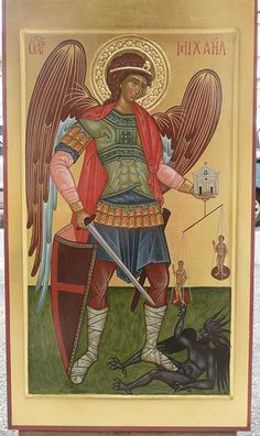 Angeli Byzantine Icons, Byzantine Art, Religious Icons, Religious Art, All Archangels, Gabriel, Angel Warrior, Religious Paintings, Book Of Hours