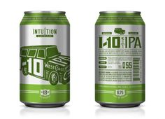 Cans from Intuition Ale Works of Jacksonville FL.