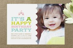 One Photo Kids' Birthday Invitations & Children's Party Invites | Minted