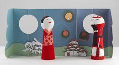 Marionettes Japon for Collegien by Mathilde Bretillot