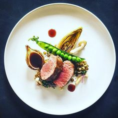 Lamb fillet, chicory, peas, lentils & onion by @chef_johnhermans Use hashtag #epicplateup for a chance to get featured