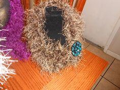 Small fun fur jewelry scarf. $20