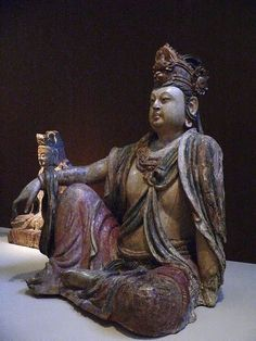 Guanyin Bodhisattva Wood 12th to 13th century CE Jin Dynasty China by mharrsch, via Flickr
