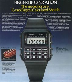 Kid80s.com | Math Becomes Fashionable with Calculator Watch