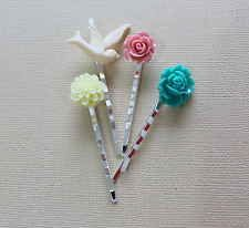 Set of 4 Resin Hair Pins Mixed Colours