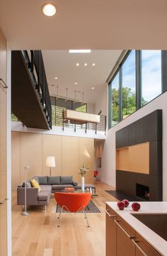 Komai Residence is a private home designed by Robert M. Gurney Architect / Alexandria, Virginia, USA