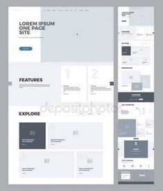 Find One Page Website Design Template Business stock images in HD and millions of other royalty-free stock photos, illustrations and vectors in the Shutterstock collection. Thousands of new, high-quality pictures added every day. Minimal Web Design, Design Web, Layout Design, Website Design Layout, Web Layout, Page Design, Website Layout Template, Business Web Design, Flat Design