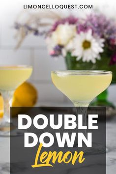 Double Down Lemon Drop There's something I love about a martini. Limoncello is a natural addition to the classic Lemon Drop recipe, it just adds more alcohol and sugar. But those ingredients tend to make anything a bit more fun. Limoncello Cocktails, Italian Cocktails, Martini Recipes, Cocktail Recipes, Spicy Candy, Drop Recipe, Double Down, Non Alcoholic Drinks